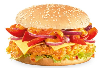 Spicy Crunchy Asia Burger